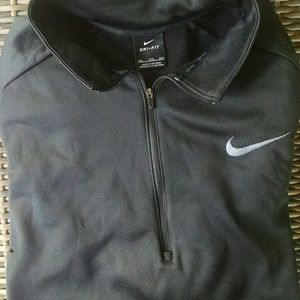 Nike black zip neck pullover